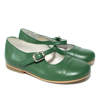 La Coqueta Green Mary Jane Shoes
