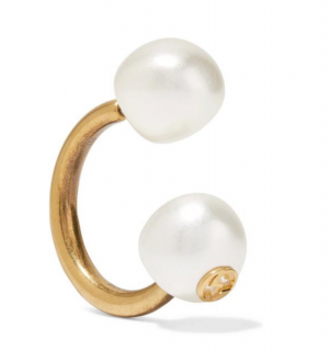 Gucci Faux Pearl GG Oversize Single Earring