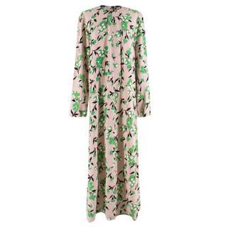 Marni Blush Floral Print Maxi Dress