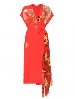 Dries Van Noten Printed cr�pe wrap dress