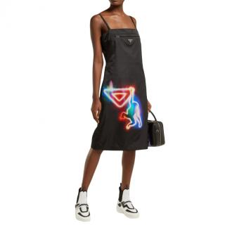 Prada Special Edition Neon Hanging Monkey Slip Dress