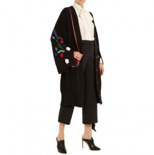 Preen Line Black Ada Oversized Knit Cardigan