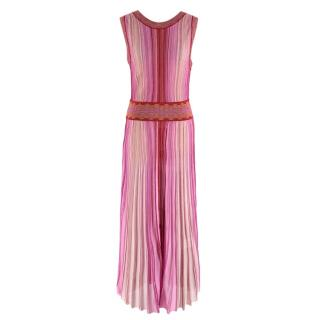 Missoni Pink & Red Metallic Midi Dress