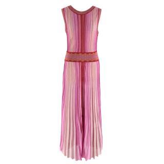Missoni Pink & Red Metallic Midi Dress