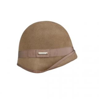 Burberry brown felted rabbit hair cloche hat