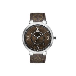 Louis Vuitton Monogram Tambour Slim Macassar Watch