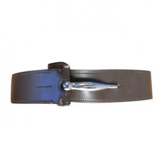 Ralph Lauren Dark Brown Wide Leather Belt