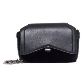 Givenchy Black Mink and leather crossbody bag