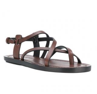 Saint Laurent Brown Nu Pieds Sandals