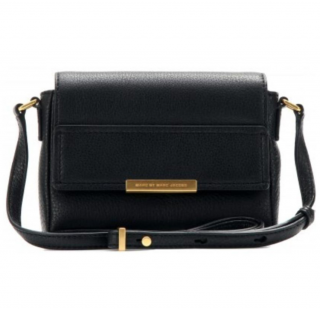 Marc Jacobs Black Grained Leather Shoulder Bag