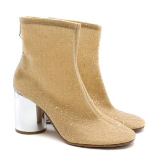 Maison Margiela Nude Crystal Sock Ankle Boots