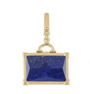 Louis Vuitton Yellow Gold travel Case Charm