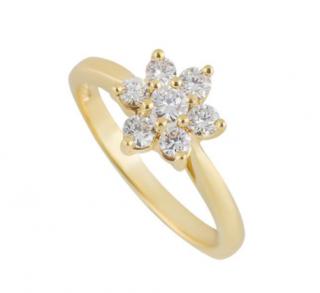 Tiffany & Co 18k Yellow Gold Diamond Ring