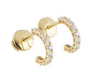 Tiffany & Co Diamond Hoop Earrings