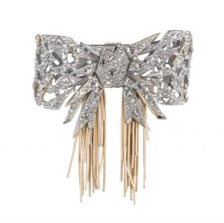Alexis Bittar Crystal Bow Pin Brooch