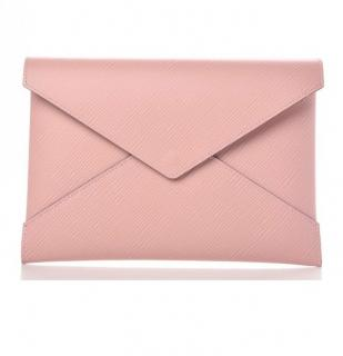 Louis Vuitton rose poudre �pi clutch