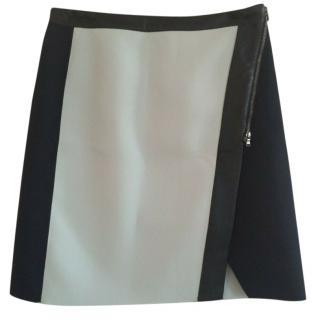 Club Monaco A-Line Two-Tone Skirt