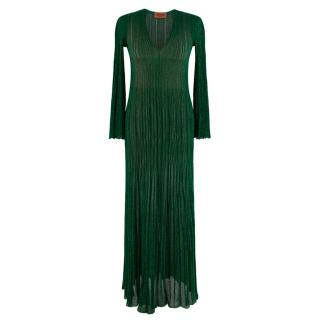 Missoni Metallic Knit Green Maxi Dress/Cover UP