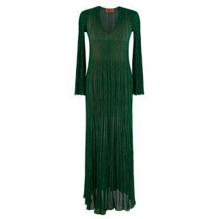 Missoni Metallic Knit Green Maxi Dress/Cover UP