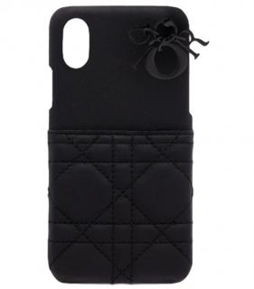 Dior Black Cannage Lambskin Lady Dior iPhone X Case