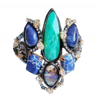 Alexis Bittar Black & Blue Crystal Embellished bracelet