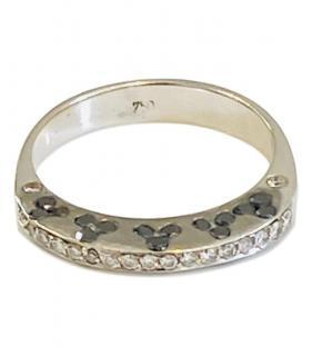 Bespoke DBlack & White Diamond White Gold Ring