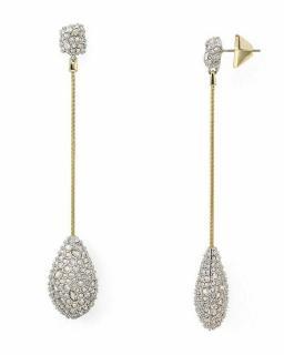 Alexis Bittar Teardrop Crystal Drop Earrings