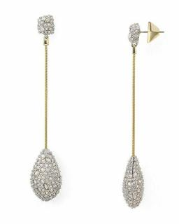 Alexis Bittar Teardrop Crystal Drop Earrings