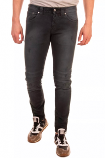 Dondup Black Distressed Men's Fitted Jeans