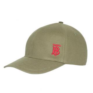 Burberry Green TB Monogram Baseball Cap