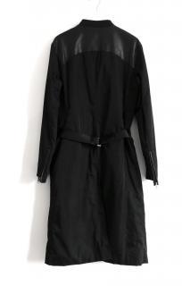 Prada vintage and very rare black bum belt coat