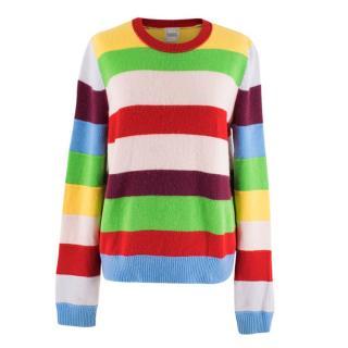 Madeleine Thompson Multi Coloured Striped Cashmere Jumper