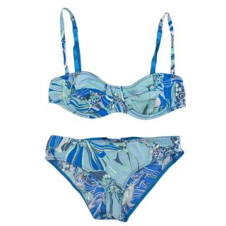 Dolce & Gabbana Blue Printed Underwear Set