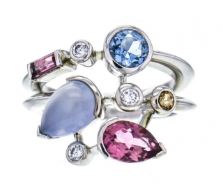 Cartier Women's Platinum Multi-Gemstone Ring