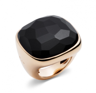 Pomellato Rose Gold Onyx Victoria Ring