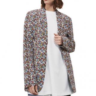 Victoria Beckham Tailored Micro Floral Print Blazer