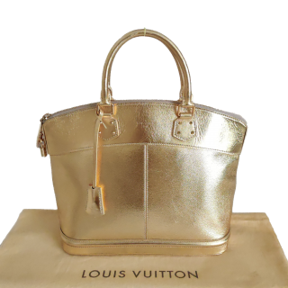 Louis Vuitton Lockit MM Gold Suhali Tote Bag - Limited Edition