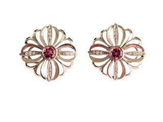 Catherine Galloway Tourmaline & Diamond Floral Lace Earrings