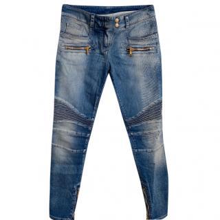 Balmain zip detail jeans