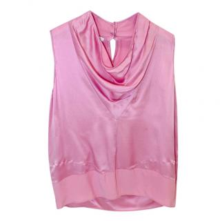 Victor & Rolf Pink Sleeveless Satin Top