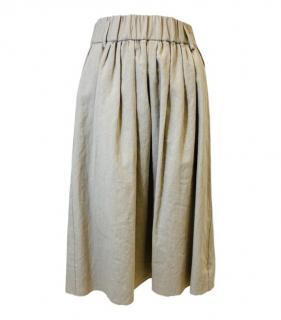 Forte Forte Linen Blend Beige Skirt