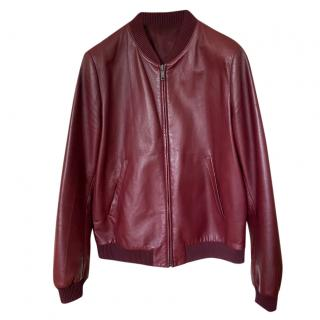Prada Burgundy Nappa Leather Bomber