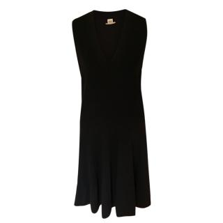 Hermes Black Lightweight Knit Sleeveless Dress