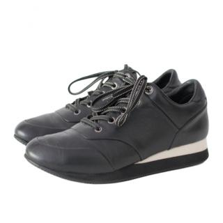 Max Mara Black & White Leather Sneakers