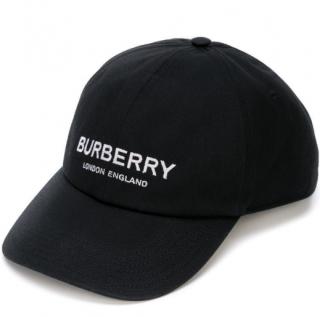 Burberry logo print baseball cap - Black