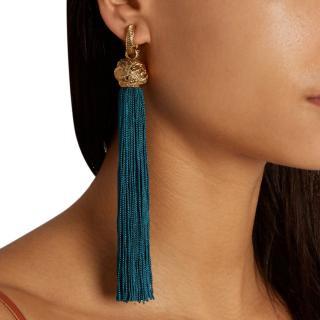Saint Laurent LouLou Tassel Earrings
