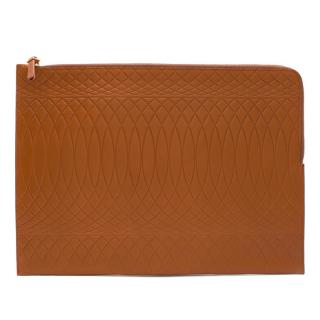 Paul Smith Brown Embossed Leather Pouch