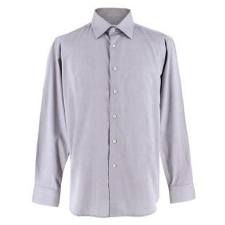 Balmain Men's Grey Button Down Shirt