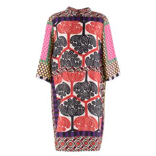 Marni Multi Colour Printed Shirt Shift Dress