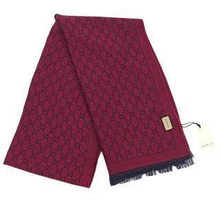 Gucci Reversible Logo-Print Wool Scarf